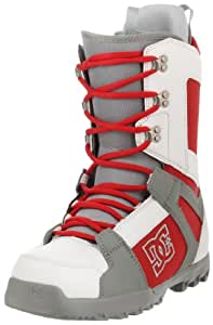 DC Men's Phase 2012 Performance Snowboard Boot,White/Red/Grey,10.5 M US