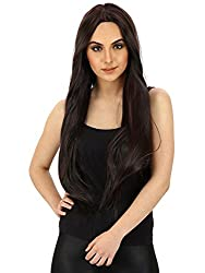 Out of Box Full Head WIG Double Tone Black Burgundy Helighted Synthetic 26-28 inch Hair Extension