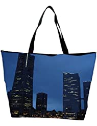 Snoogg Abstract Building Designer Waterproof Bag Made Of High Strength Nylon - B01I1KNT80