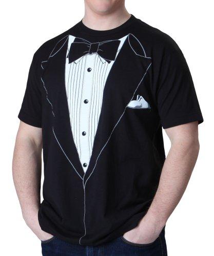 Impact Black Tuxedo T-Shirt, Black, Large