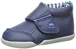 Carter\'s Every Step Bobby-P4 Boys Slip-On Shoe (Infant/Toddler), Navy/Plaid, 4 M US Toddler