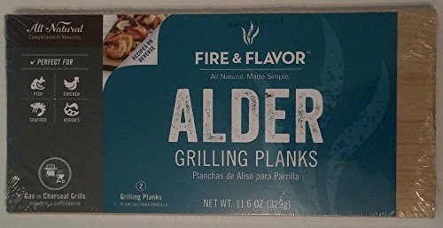 Fire & Flavor Alder Grilling Planks (Pack of 2)