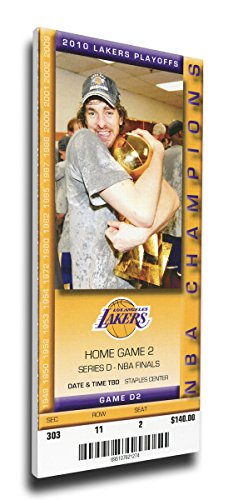 That's My Ticket 2010 NBA Finals Mega Ticket Wall Decor, Game 2, Gasol, Los Angeles Lakers (Wall Ticket compare prices)