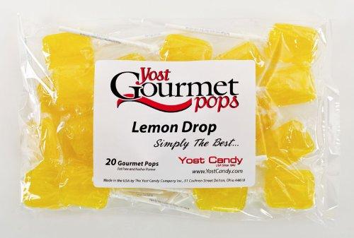 Yost Gourmet Pops, 20 Count Bag - Lemon Drop