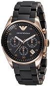 Emporio Armani Womens AR5906 Fashion Black Dial Watch