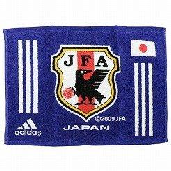 アディダス 日本代表 クレスト タオル ジャパンブルー×ホワイト