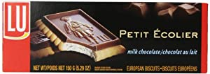 LU Cookies Le Petit Ecolier, The Little Schoolboy, Milk Chocolate, 5.29-Ounce Boxes (Pack of 6)
