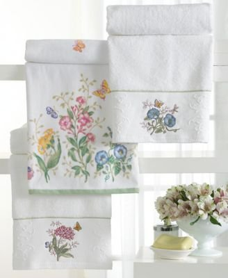 Lenox Embroidered Butterfly Hand Towel - 16X28