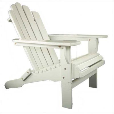 Solid Maple Adirondack Chair Finish: Pure White