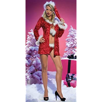 Sexy Costumes: sexy legs Babes in Sexy Mrs Santa Claus Costume Includes Jacket, Thong, And Hat