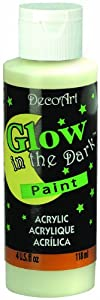 DecoArt DS50-10 Glow-in-the-Dark Paint, 4-Ounce