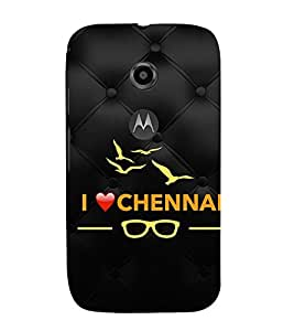 EPICCASE I love Chennai Mobile Back Case Cover For Moto E 2nd Generation (Designer Case)