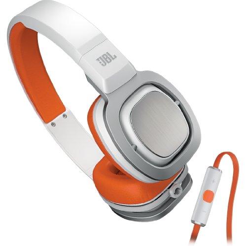 【国内正規品】 JBL High-performance on-ear ヘッドホン J55i ホワイト/オレンジ J55IWOR