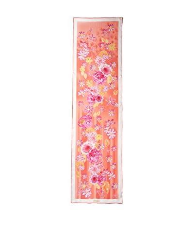Salvatore Ferragamo Women's Patterned Silk Scarf, Coral/Multi