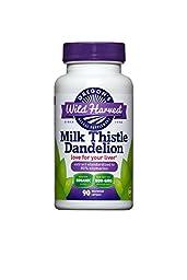 3 PACK: Organic Milk Thistle Dandelion 90 caps