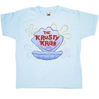 Refugeek Tees - Enfants Krusty Krab T Shirt - 1-2 years - Light blue