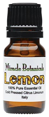 Miracle Botanicals Lemon Essential Oil - 100% Pure Citrus Limonum - Therapeutic Grade - Italy 10ml