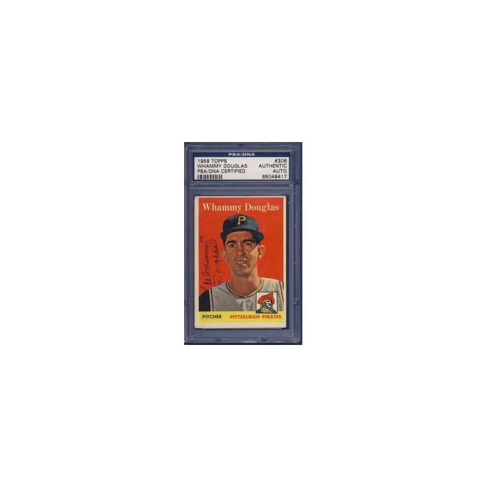 1958 Topps Whammy Douglas #306 Signed Card PSA/DNA
