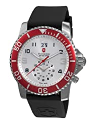 Victorinox Swiss Army Men's 241177 Maverick II Dual Time Silver Dial Watch