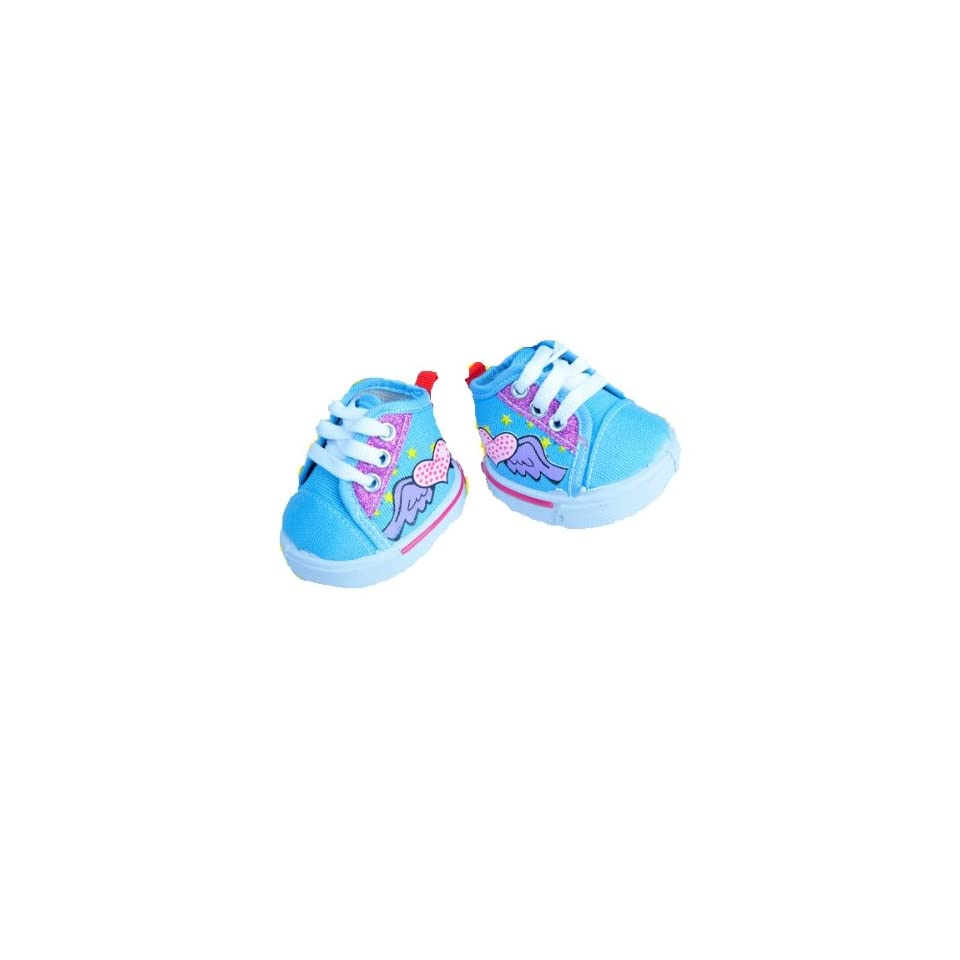 Blue Angel Heart Glitter Shoes Teddy Bear Clothes Fits Most 14   18 Build a bear, Vermont Teddy Bears, and Make Your Own Stuffed Animals