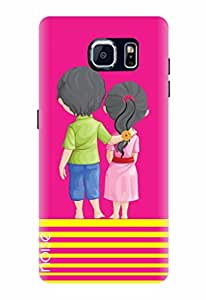 Noise Unbroken Bondmagenta Printed Cover for Samsung Galaxy S7