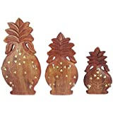 Crafts A To Z Beautiful Wooden Handicrafts Wall Hanging & Wall Key Holders Set Of 3