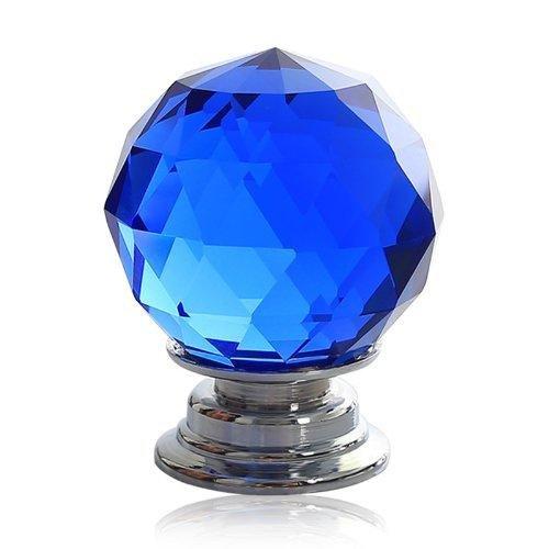 DECOOL (TM) 6PCS*1.2″ Blau Kristall Moebelknopf Moebelknoepfe Moebelknauf Griff Knopf Schrauben Möbelgriffe Set Schrankgriff Neu DIY Crystal Handle günstig