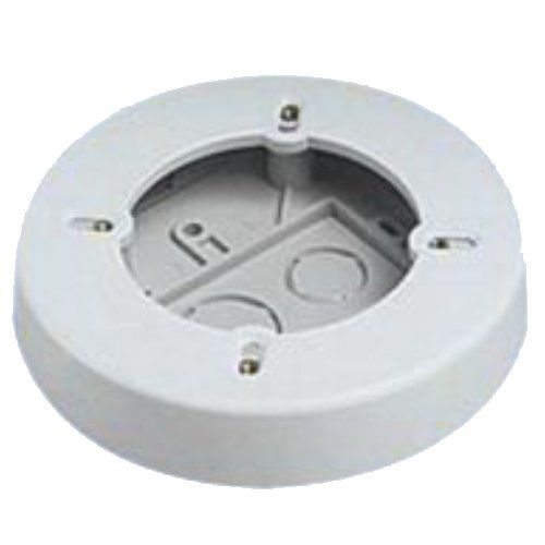 Panduit Rjbx3510Iw 1-Gang Power Rated Round Outlet Box, Off White, 2-Piece