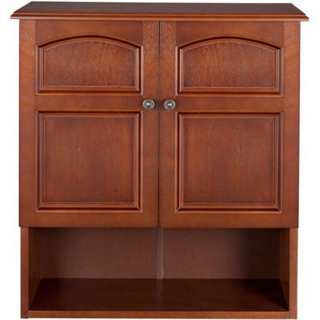 Elegant Home Fashions 2 Door Marcy Wall Cabinet Salvage Wood Finish Veneer Classic 2 Door Cabinet