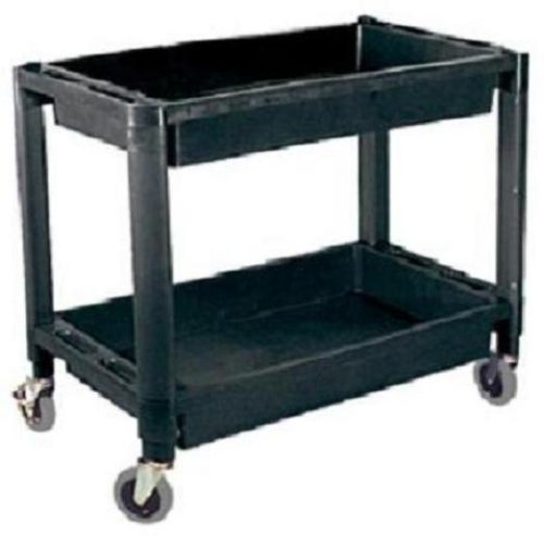 Plastic Utility Cart With Two Shelves