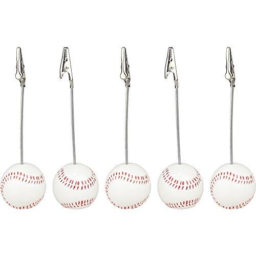Lot 5pcs Solid Resin Baseball Wire Recipe&desk&card¬e&memo&photo Clip/holder or Paper Weight,sport Sereis (Recipe Cards Lot compare prices)