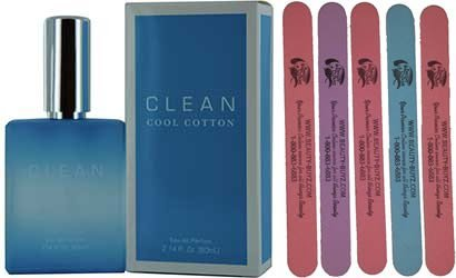 Cool Cotton Eau De Parfum Spray Plus Bonus 5 Emery Boards (Clean Cool Cotton Perfume compare prices)