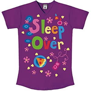 Girls Sleepover Purple Big Tee Shirt