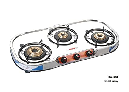 Kenson GL 3 3B Step Gas Cooktop (3 Burner)