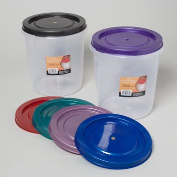 Press-O-Fresh 10 Quart Round Food Storage Container - Lid Color Varies