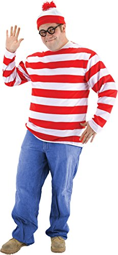 Morris Costumes Men's WHERE'S WALDO ADULT KIT XXL