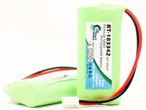 2x Pack - AT&T CL82101 Battery - Replacement for AT&T Cordless Phone Battery (700mAh, 2.4V, NI-MH)