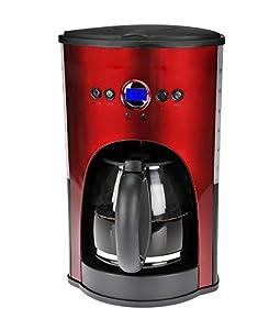 Amazon.com: Kalorik 1000-Watt 12-Cup Programmable Coffeemaker, Red: Coffee Maker: Kitchen & Dining