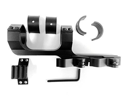 Ade Advanced Optics AR15 M4 Flat Top Offset QD Scope Mount with Quick Release Cam Locks 1913 Picatinny Rails (1-Piece)