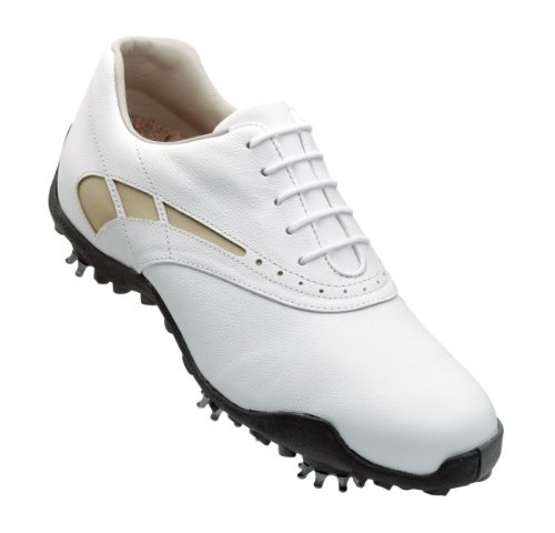 FootJoy LoPro Golf Shoes 97228 Womens White/Taupe Medium 8.5
