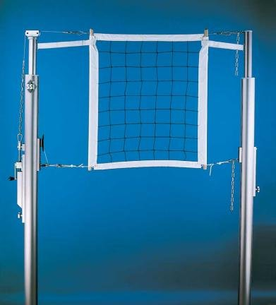Master Telescopic 1 Court Volleyball System without Floor Sleeves and Covers