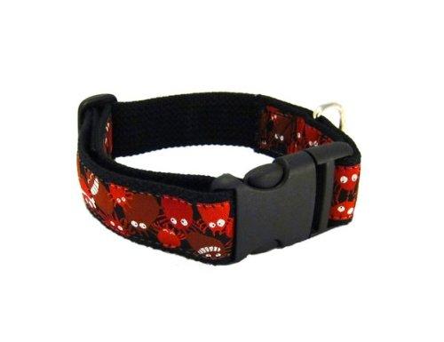 chiens colliers classiques collier pour chien en nylon r glable taille l 44 62 cm rouge. Black Bedroom Furniture Sets. Home Design Ideas
