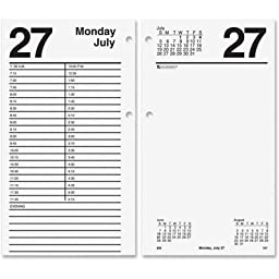 AT-A-GLANCE E21050 Large Desk Calendar Refill, 4 1/2 x 8, White, 2016 by At-A-Glance