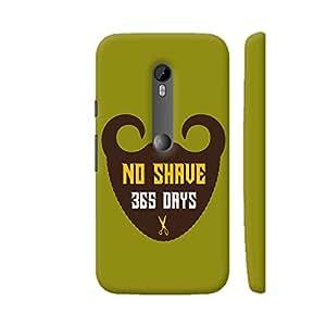 Colorpur 365 Days Of Beard No Shave Artwork On Motorola Moto G3 Cover (Designer Mobile Back Case) | Artist: Designer Chennai