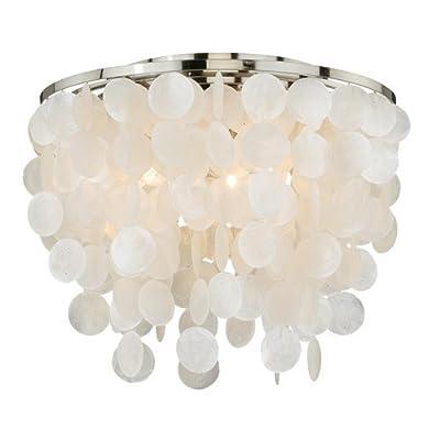 Vaxcel Lighting C0079 Elsa 3 Light Flush Mount Indoor Ceiling Fixture with Organ,