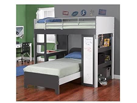 Bunk Bed With Desk And Shelf Bookcase