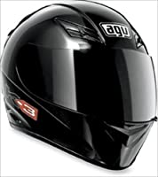 AGV K3 Full Face Motorcycle Helmet (Matte Black, Medium) by AGV