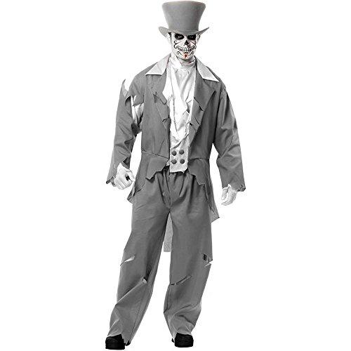 [Ghost Groom Adult Costume] (Dead Groom Costume)