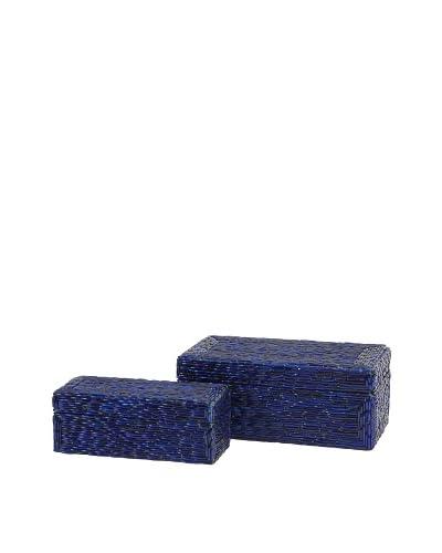 Set of 2 Indigo Bangle Boxes
