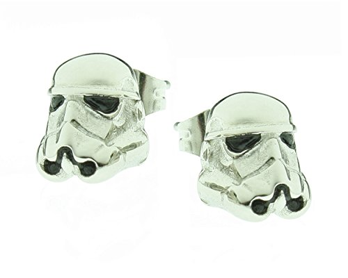 Star Wars Earrings Stormtrooper 3D Stainless Steel Studs